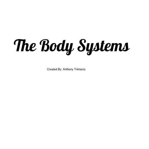 The Body Systems for kids