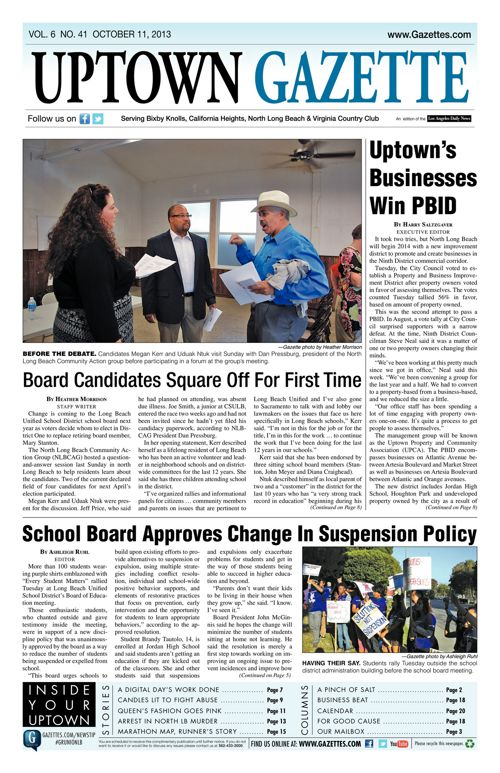 Uptown Gazette  |  October 11, 2013