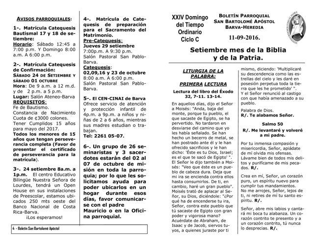 Boletín 683, XXIV Domingo del Tiempo Ordinario