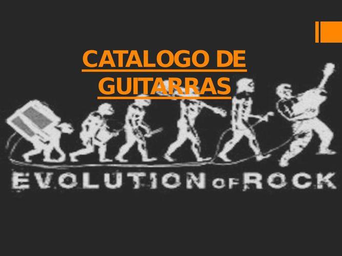 CATALOGO DE GUITARRAS