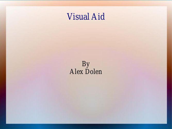 Visual Aid AlexDolan