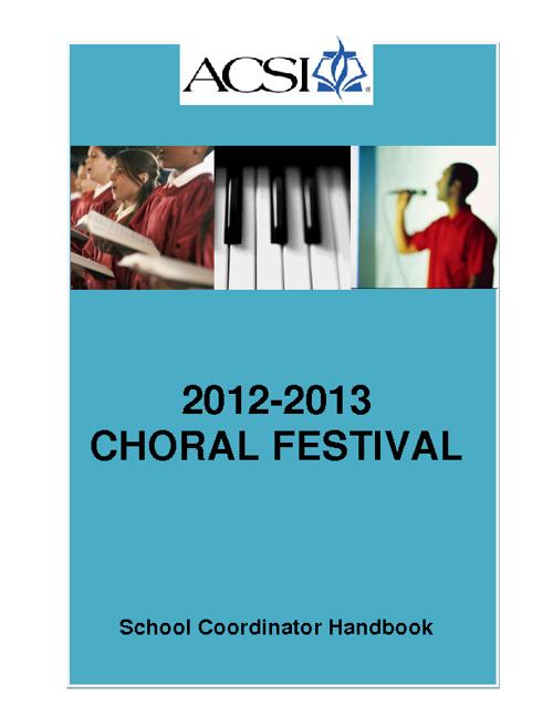 Choir Coordinator Handbook