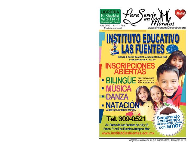 Para Servir en Morelos - Febrero - 2012