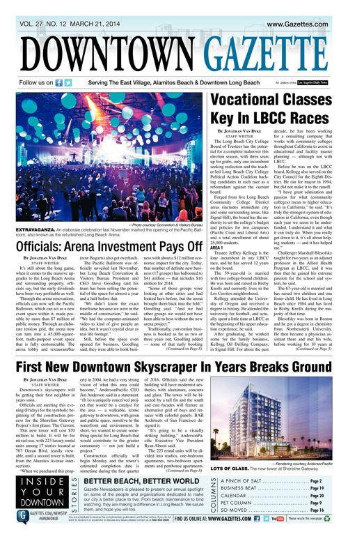 Downtown Gazette  |  March 21, 2014