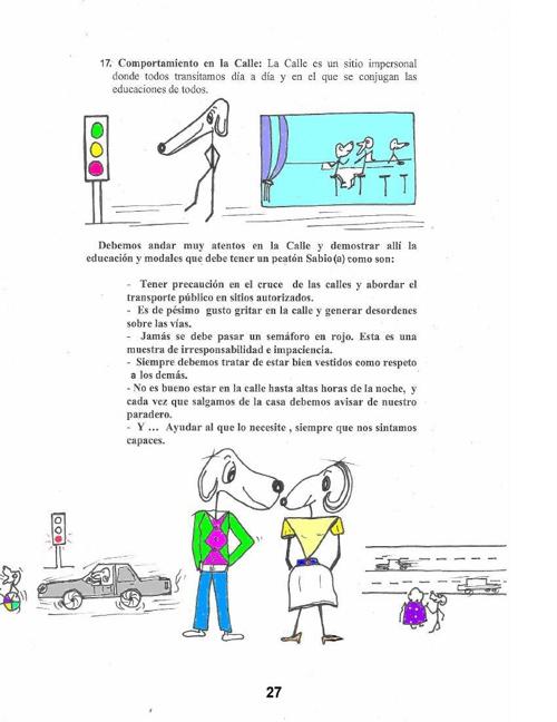 CONTINUACION NORMAS DEL BUEN COMPORTAMIENTO CARTILLA SERES DE PA
