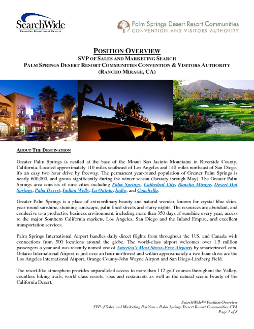 Palm Springs - SVP