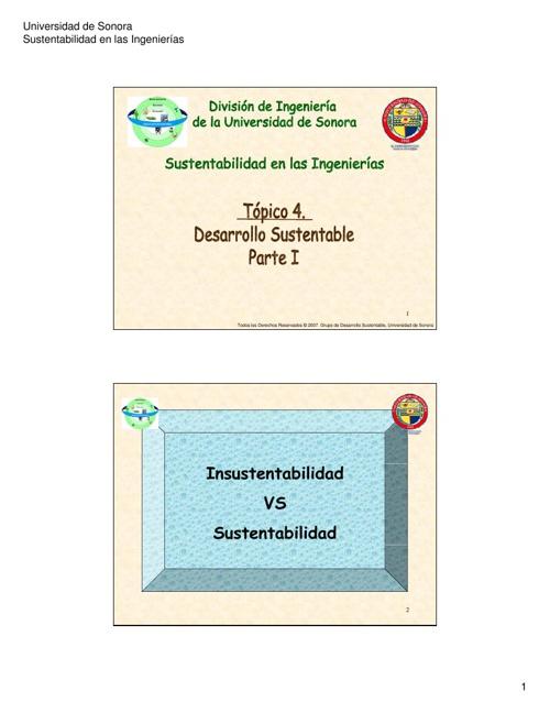 Topicos de Desarrollo Sustentable