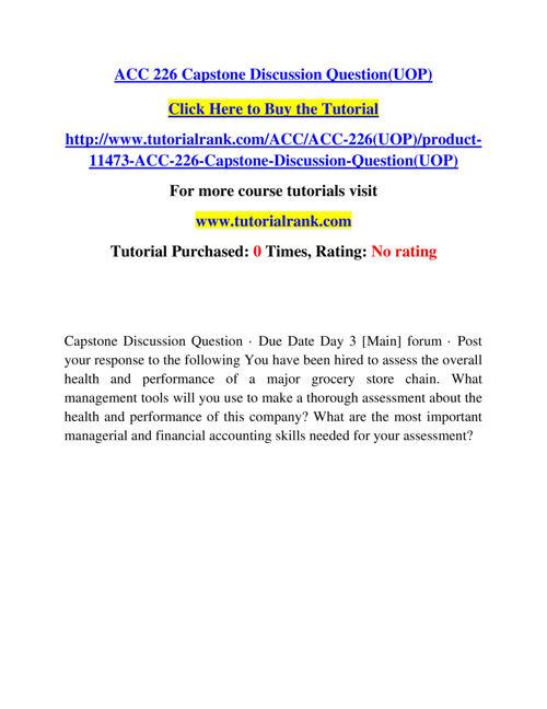 ACC 226 Course Experience Tradition / tutorialrank.com