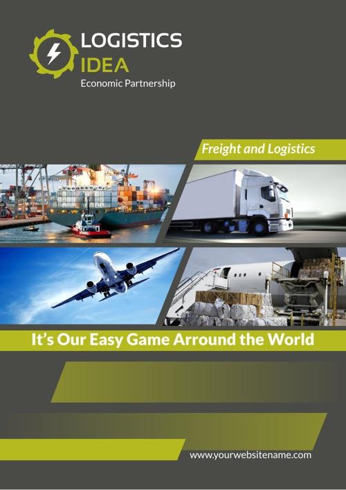 Logistics Services Brochure Template A4