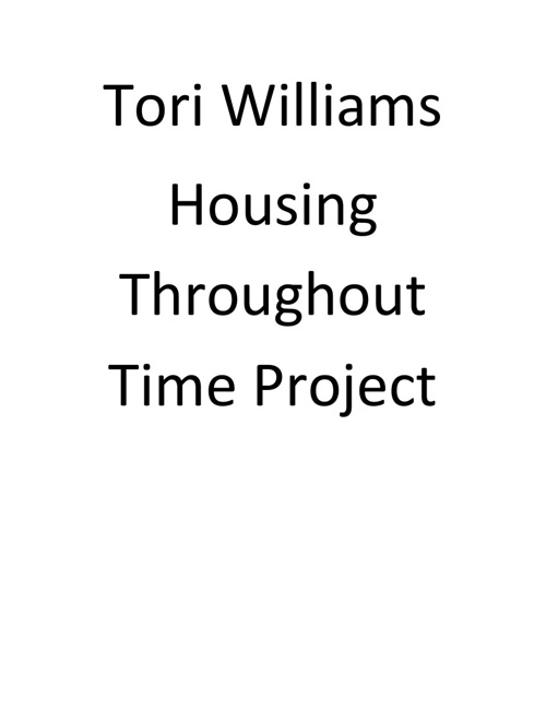 Williams Housing Throughout Time