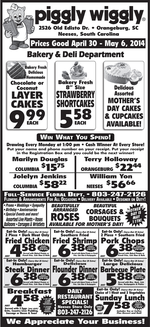 Copy of Piggly Wiggly: April 30th - May 6th
