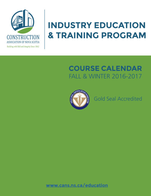 2016-17 Industry Education Course Calendar