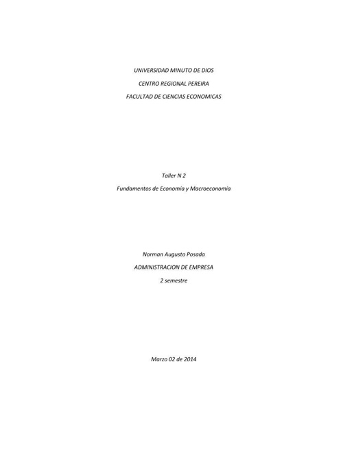 Copy of Taller 2 Fundamentos de Economia