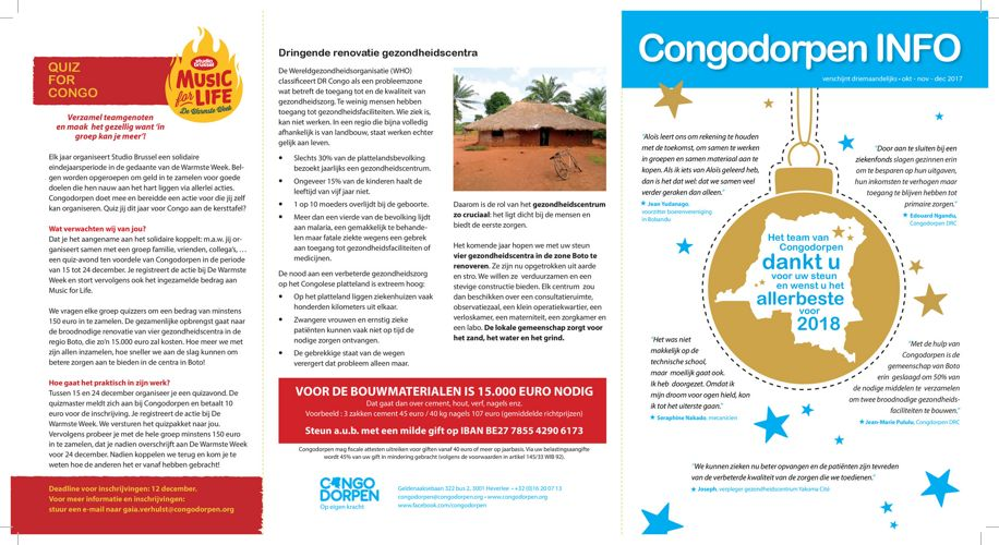 Congodorpen Nieuwsbrief okt-nov-dec