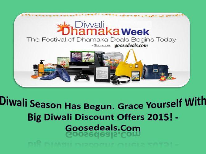 Diwali Season Has Begun. Grace Yourself With Big Diwali Discount