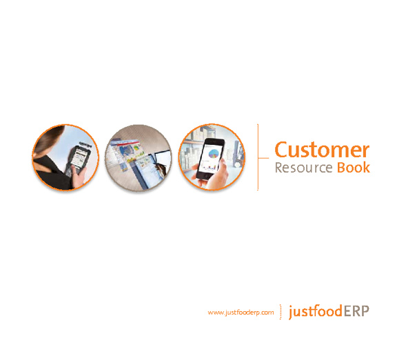 JustFoodERP Customer Resources Book