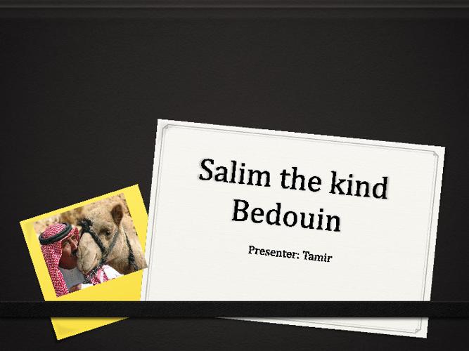 salim the kind bedouin