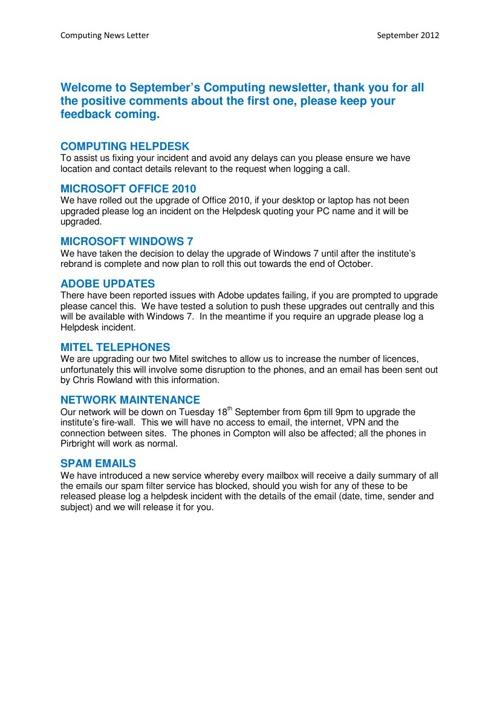 2012-09 Computing news letter