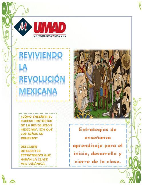 """Catálogo de estrategias: """"Reviviendo la Revolución Mexicana"""""""