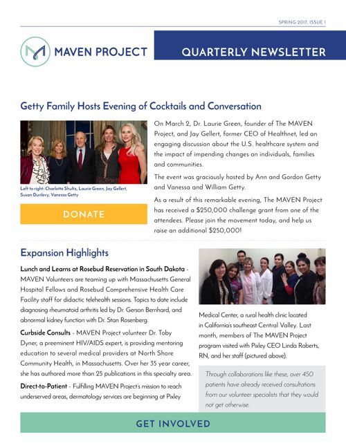 Outreach - Spring Newsletter 2017