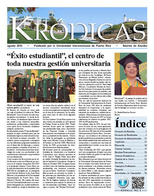 Periódico Krónicas - agosto 2012