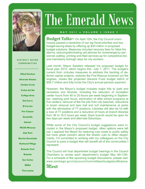 The Emerald News: Volume 3, Issue 5 (May 2011)