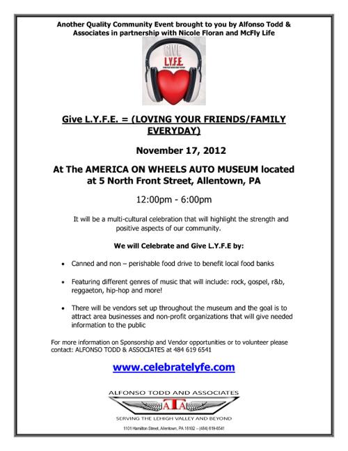 GIVE L.Y.F.E. Vendor & Sponsor Packet