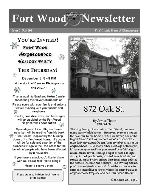 Fort Wood Newsletter Fall 2011