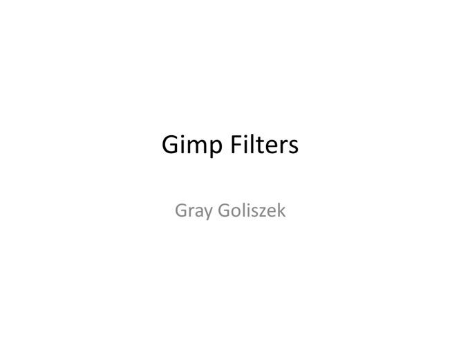 Gimp Filters