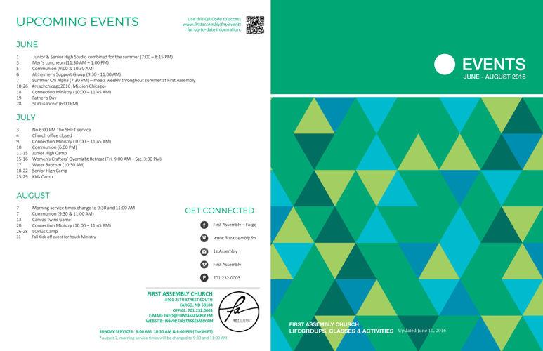Summer Events Brochure 2016