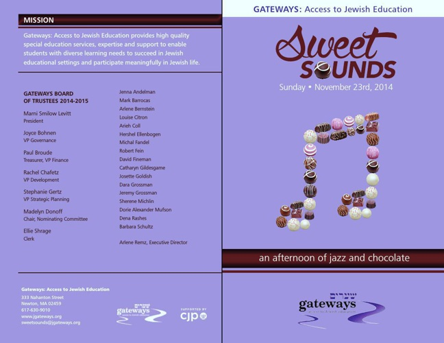 Sweet Sounds 2014 Program