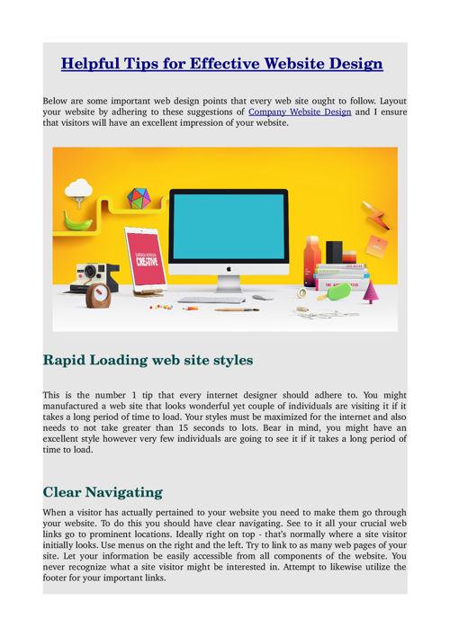Helpful Tips for Effective Website Design