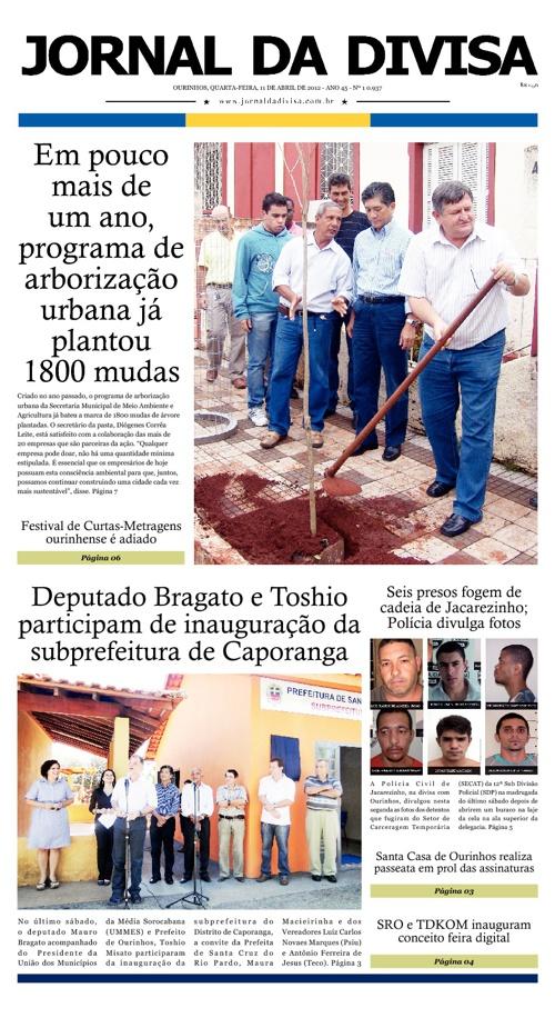 JORNAL DA DIVISA - Edição de 11 de Abril de 2012.