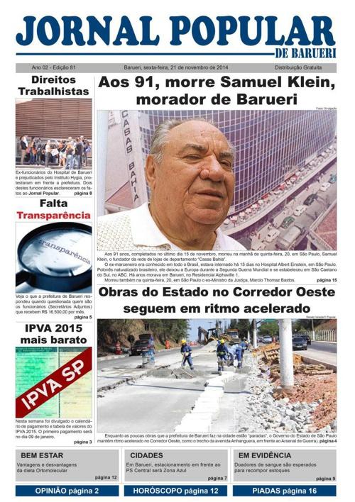 81ª edição do Jornal Popular de Barueri