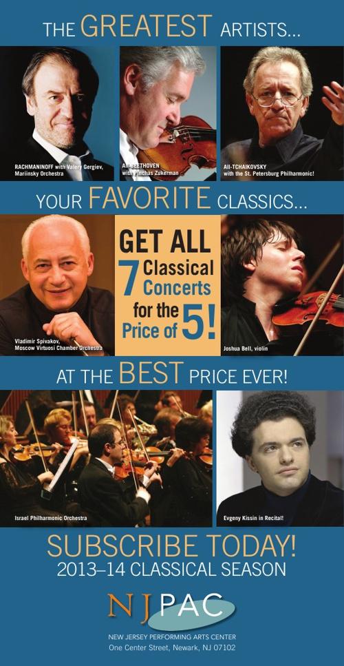 NJPAC Classical Brochure 2013–14