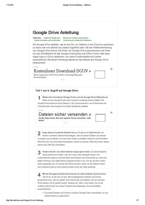 Google Drive Anleitung – wikiHow