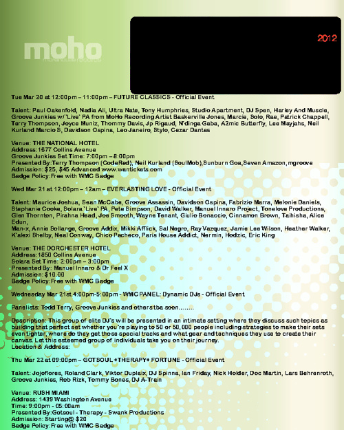 MoHo WMC 2012 Guide