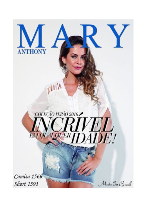 mary Anthony Verão 2016