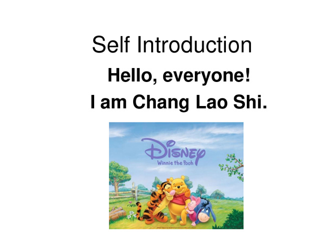 Self-Introduction