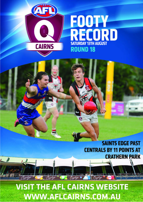 AFL Cairns Footy Record Round 18 Saturday 13th August 2016