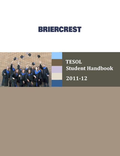Briercrest TESOL Student Handbook 2011-12