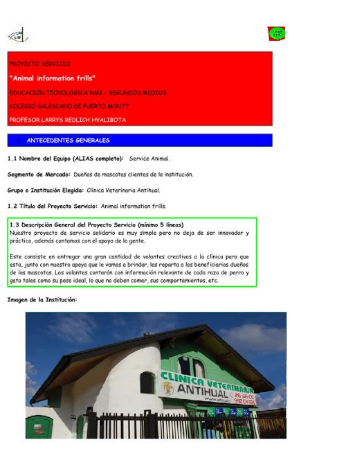 2012 2C Service Animal 31 Formulario