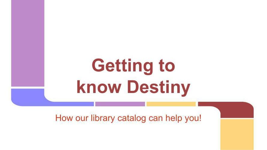 Follett Destiny Intro