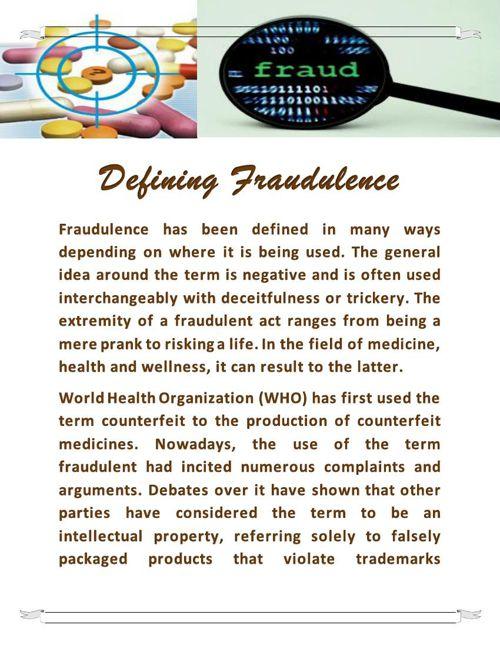Defining Fraudulence