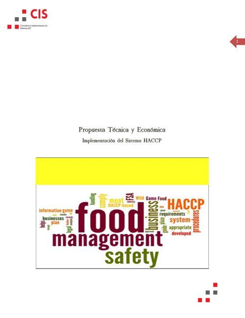 PROPUESTA HACCP