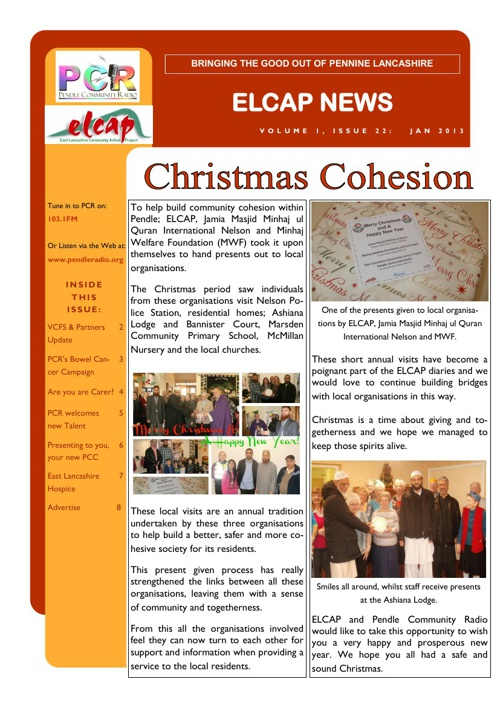 Issue 22 - Jan 2013 - ELCAP E-Newsletter