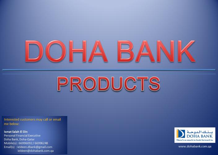 Doha Bank Products