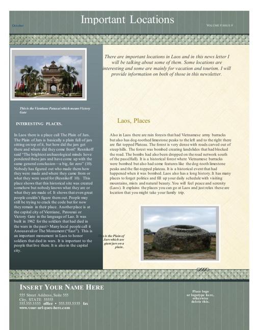 Laos important Places