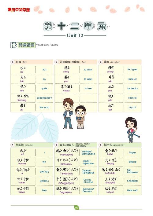 中文句型練習