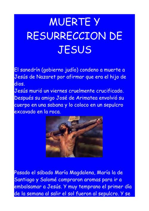 La Resurreccion de Jesucristo